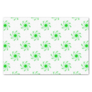 Green Pin Wheel Tissue Paper