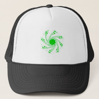 Green Pin Wheel Trucker Hat
