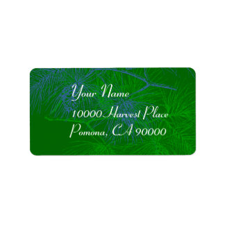 Green Pine Simple Holiday Address Labels