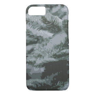 Green pines abstract iPhone 8/7 case