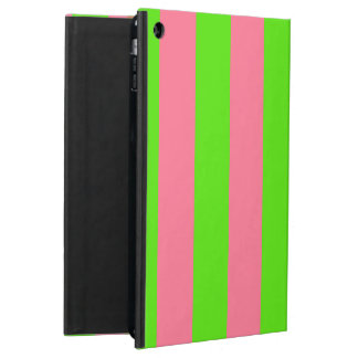 Green, Pink Candy Stripes iPad Air Cases