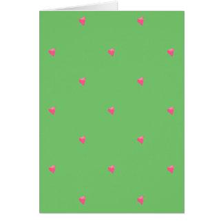 Green/Pink Confetti Hearts Card