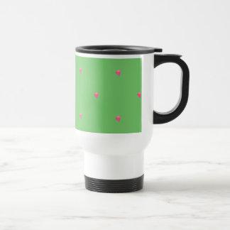 Green/Pink Confetti Hearts Mug