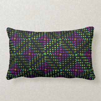 Green Pink Diamond Abstract Pattern, Lumbar Pillow