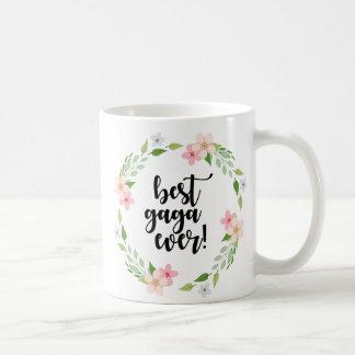 Green Pink Floral Best Gaga Ever -  Funny Gaga Mug