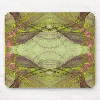 Green & Pink Fractal Mousepad