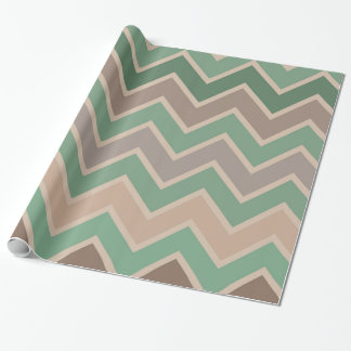 Green Pink Peach Chevron Wrapping Paper
