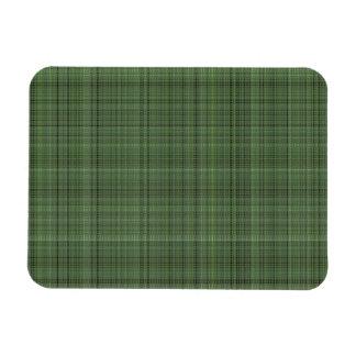 Green Pinstriped Fabric Rectangular Photo Magnet
