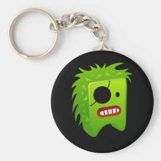 Green pirate monster keychain