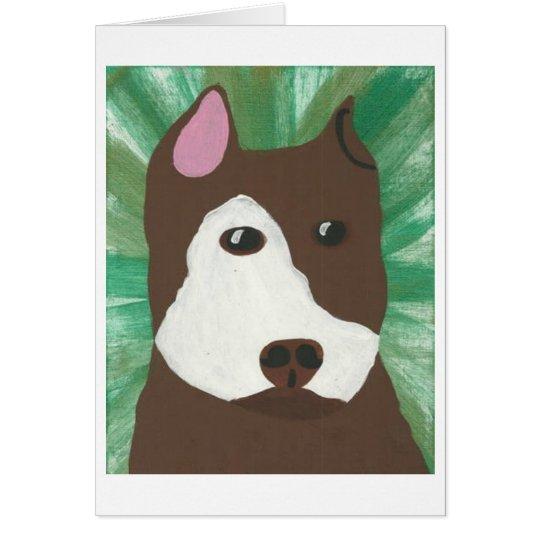 Green Pit Bull Card