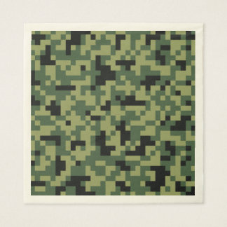 Green Pixels Camouflage. Camo your Paper Napkins