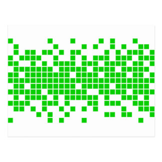 Green Pixels Postcard