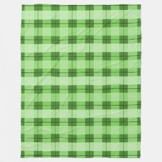 Green Plaid 2.0 Fleece Blanket