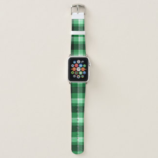 Green Plaid Apple Watch Band