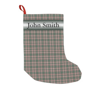 Green Plaid Basic Small Christmas Stocking