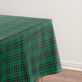 Green Plaid Clan MacLean Hunting Tartan Tablecloth