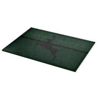 Green Plaid Deer Cutting Board