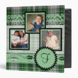 Green Plaid Family Photograph Monogram Album