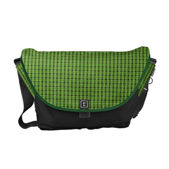 Green Plaid Messenger Bag