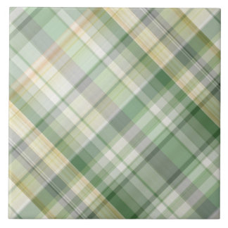 Green plaid pattern tile