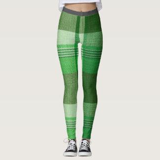 Green Plaid Skinny Jean Leggings