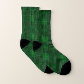 Green Plaid Socks 1