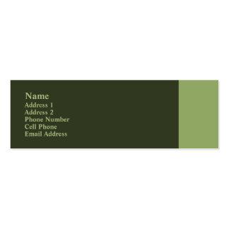 green plain mini business card