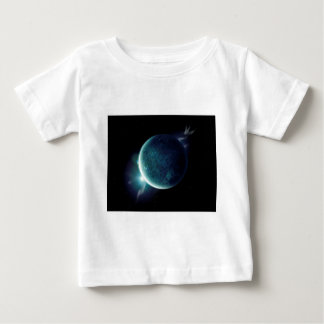 green planet in the universe with aura and stars baby T-Shirt
