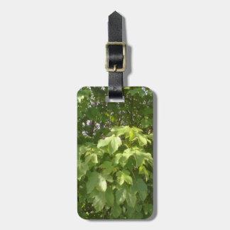 Green plant leafs bag tag