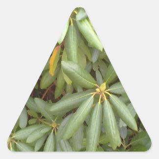 Green plant triangle sticker