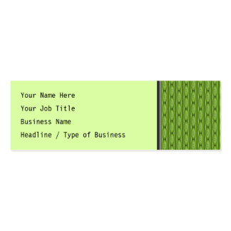 Green Plantlike Pattern. Business Cards
