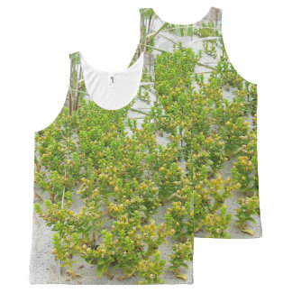 Green plants at the beach All-Over-Print tank top