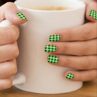 Green Plumeria Flowers (Frangipani) Nail Stickers