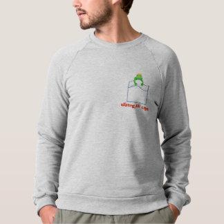 Green Pocket Frog, Waiting for a kiss.Humor Sweatshirt