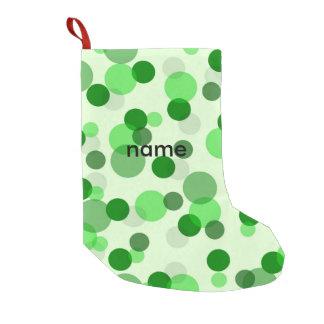 Green Poker Dot Pattern Small Christmas Stocking