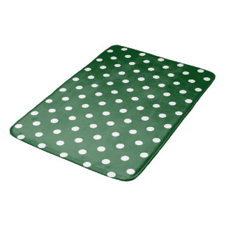 Green Polka Dot Bath Mat