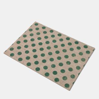 green polka Dot Burlap Style Doormat