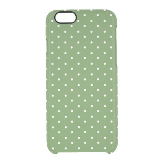 Green Polka Dot Clear iPhone 6/6S Case