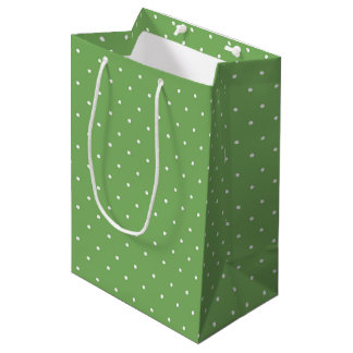 Green Polka Dot Gift Bag
