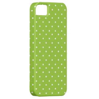 Green polka dot iphone 5 case