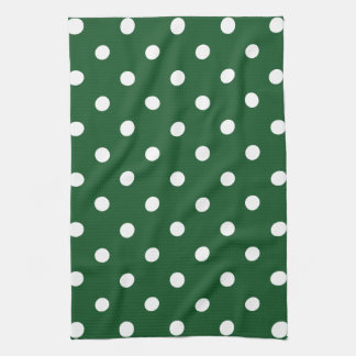 Green Polka Dot Kitchen Towel