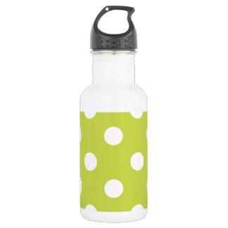 Green Polka Dot Pattern 532 Ml Water Bottle