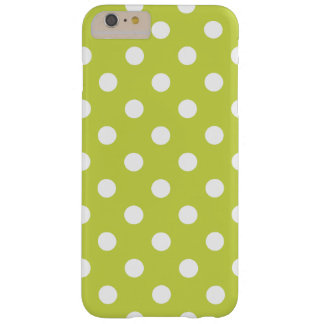 Green Polka Dot Pattern Barely There iPhone 6 Plus Case