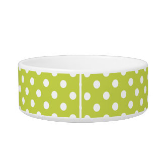 Green Polka Dot Pattern Bowl