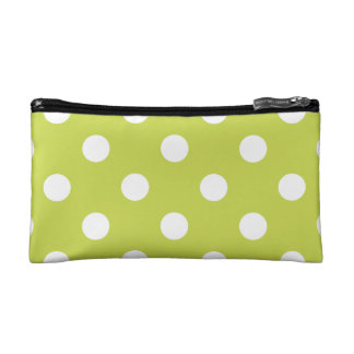 Green Polka Dot Pattern Cosmetic Bag