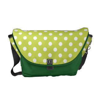 Green Polka Dot Pattern Courier Bags
