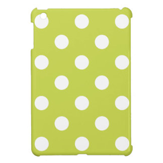 Green Polka Dot Pattern iPad Mini Cases