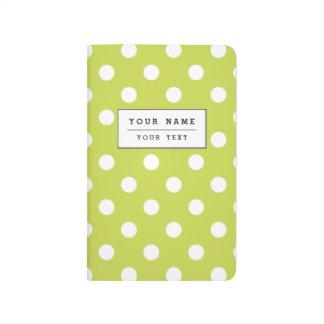 Green Polka Dot Pattern Journal
