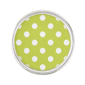 Green Polka Dot Pattern Lapel Pin