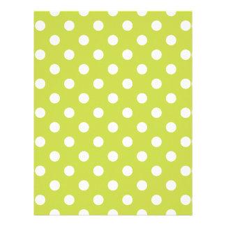 Green Polka Dot Pattern Letterhead